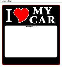 Road Tax Sticker Car Sticker Window Sticker