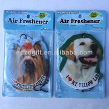 dog shape paper air freshener for car, promotional hanging fragrance card