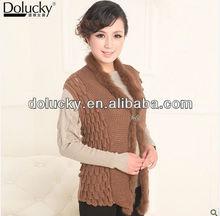 ladies fashion Autumn Winter new style elegant rabbit fur vest