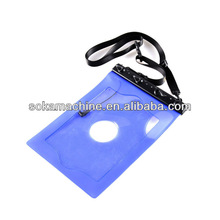 pvc mp3/mp4 waterproof pouch for diving swimming beach(European standard and direct factory)