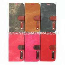Leather Flip Case Cover For Samsung S4 i9500 Cowboy Case