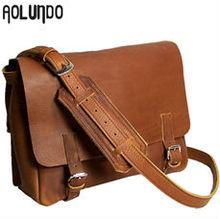 Full grain leather bags fashion male shoulder bag messenger bag