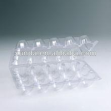 Clear plastic egg box for 10pcs