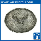 Hot sale custom name belt buckle with silver color p