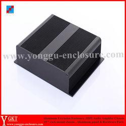 brush finish treatment aluminum box black color