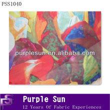 2014 digital printed art silk fabric