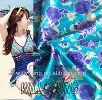 chlorine resistant swimwear fabric floral print swimwear fabric