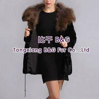 BG28057 New Design Natural A grade rex rabbit Fur Coats