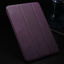 luxury purple leather book cover for ipad mini