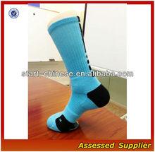 Blue Black Men's Sport Crew Elite Custom DRI-FIT Basketball Men's Socks/Cushioning Basketball Elite Socks Manufacturer