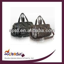 Male fashion PU leather laptop backpack casual men shoulder bags messenger bag large capacity