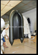 5persons black inflatable pontoon boat,fishing boat