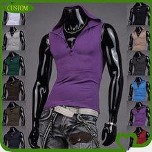 OEM custom mens latest fashion hooded tank top