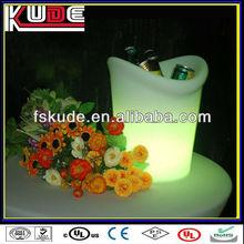 LED bar furniture beautiful LED flashing illuminated plastic ice bucket with RGB light