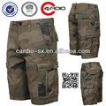100% ripstop algodão mens shorts andar tripla ameaça camo cargo shorts personalizados calções de praia