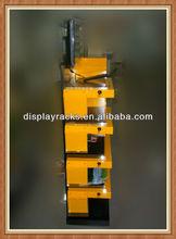2015 popular mdf/acrylic display stand/shelf/rack for women sanitary napkins/commodities