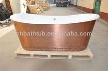 antique tub/copper skirted tub/ancient tub