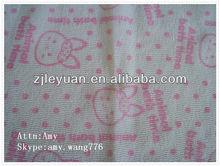 custom design printed salux towel wash cloth fabric