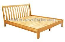 (W-B-0070) oak wood hotel bed