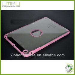 crystal case cover for ipad mini,PC+TPU transparent case for ipad mini