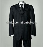 MW-056 Fashion black and white striped suit men dress sample new design tuxedo men suit