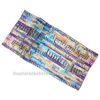 large size real silk character scarf women fashion shawl