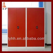 bronzered 2 door storage steel locker/wardrobe, mirrored wardrobes for sale, double door metal wardrobe locker