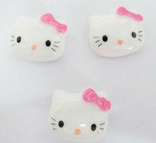 Hot Sell Pink Bow Kitty Flat Back Resin DIY