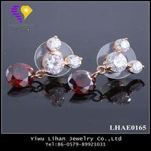 Nice Zircon Gold Earrings New Model 2013 Gold Earrings Designs For Girls