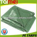 China fábrica de lona verde precio de polietileno tejido tejidos de lona/pe lonas/lienzo/hoja/rollo para la cobertura de