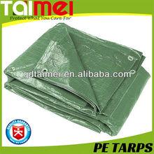 China Tarpaulin Factory Price Green Polyethylene Woven Tarpaulin Fabrics / PE Tarps / Canvas / Sheet / Roll for Covering