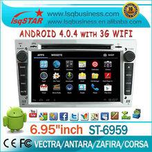 Multimedya android4.04 opel vectra araba dvd oynatıcı/Antara/Zafira/Corsa gps navigasyon