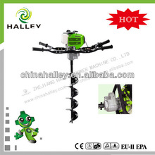 Hot sale garden earth auger with gas 49 cc engine with CE/GS/EMC HL490A-2