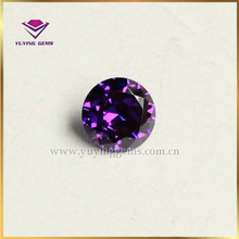 Popular violet cz fashion jewelry pendant beads precious cubic zirconia