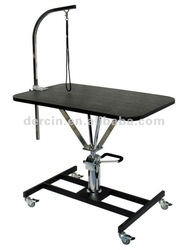 Height adjustable hydraulic Grooming Table with wheels