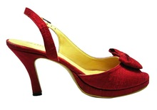 Ladies Shoe 100 % pure Thai Silk ,lining and sole genuine leather