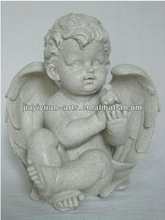 stone finished resin statues,resin crafts,angel sculpture