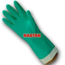 "Flocklined Chemical Resistant Nitrile Gloves (18mil, 15"")"