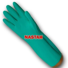 """Unlined Chemical Resistant Nitrile Gloves (22mil, 15"""")"""