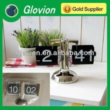 Retro flip down clock decorative desk clock bell quartz clock