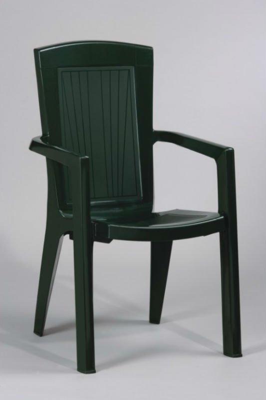 chaise en plastique vert