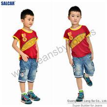 Children jeans suppliers fashion children cut jeans children trend cowboy processing plant export denim trousers