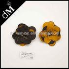 dM Wholesale handmade beaded fabric pin flower brooch in bulk BR0282