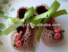 2013 new design crochet baby girls shoes