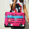 2013 the new large capacity printing graffiti bus candy colors canvas shoulder bag hand bag for girls