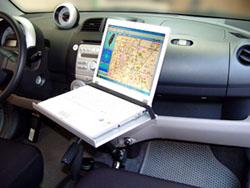 Ordinateur portable pad kit voiture de véhicule portable support de bras dispositif