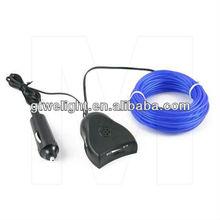 blue 3m EL Neon Glow Wire car lighter sound activated inverter car lighter