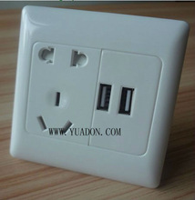 AC usb wall outlet /usb power outlet/white color wall outlet with usb