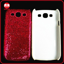 Customized Bling Sparkle Jewell Glitter Fabric Hardshell Cell Phone Cases for Samsung S3