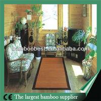 Elegant high quanlity binding and backing pattern bamboo rug